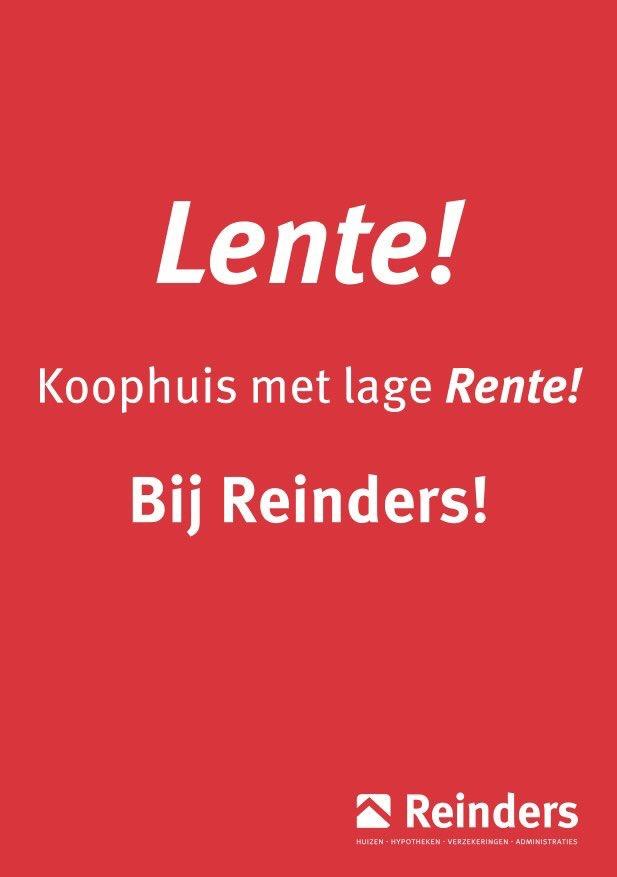 Lente! Koophuis met lage Rente bij Reinders!